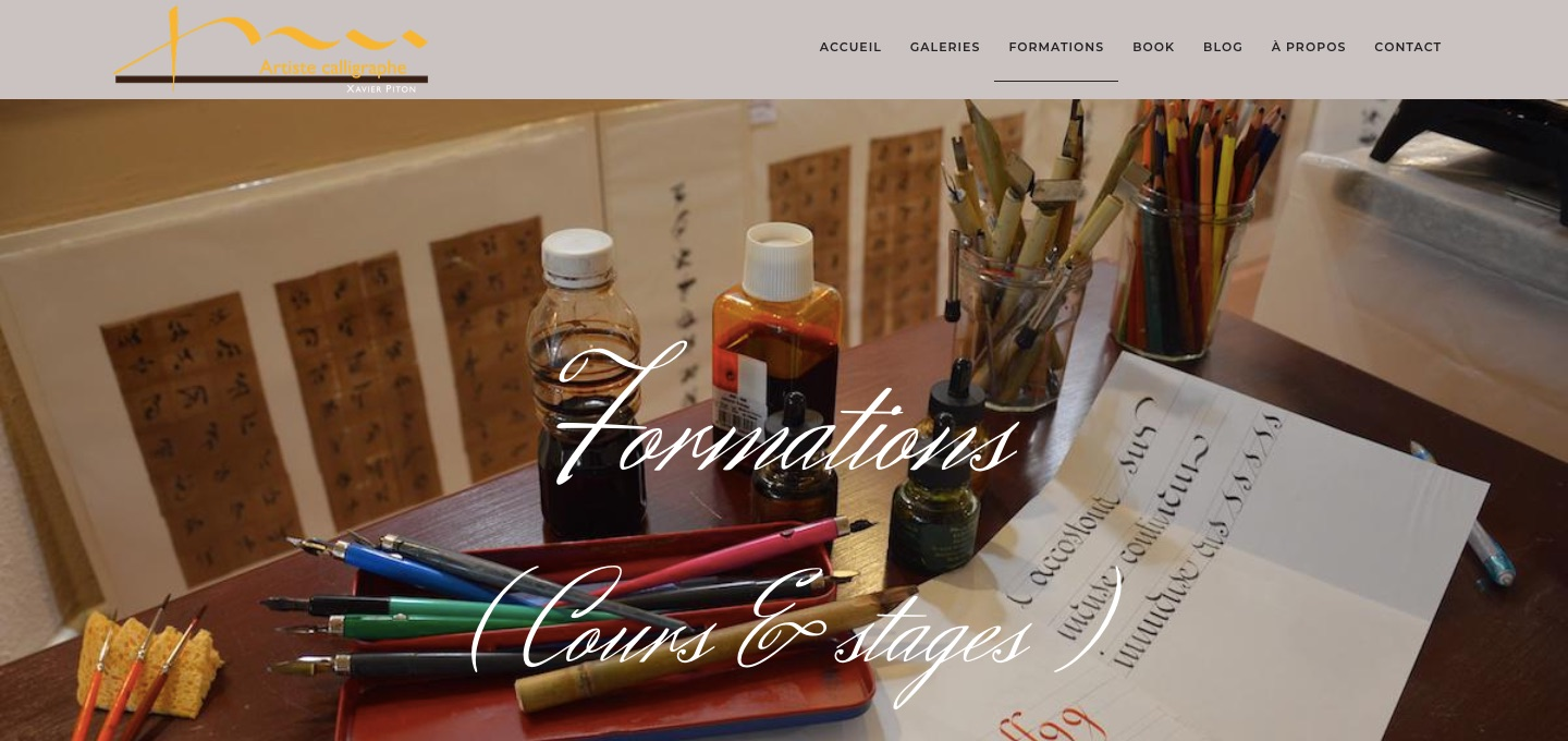 formations en calligraphie